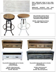 Industrial Rustic Recycled  Elm Wood  Entertainment T.V Unit  180cm long