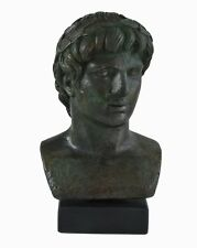 Apollo Bust with bronze color effect - God of light sun music and poetry