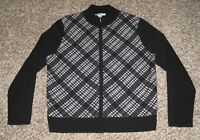 Pendleton Merino Wool Sweater L Womens Long Sleeve Zip Up Excellent USA