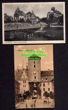 118499 2 AK Villingen 1915 Brücke an der Brigach Oberes Tor 1915