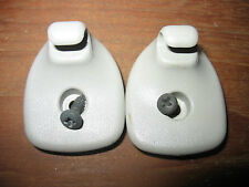 2000 - 2005 Dodge Neon OEM Beige (neutral)  Sun Visor Clips (2)  with screws (2)