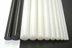 Nylon 6.6 Rod Black White Engineering Plastic Round Bar Billet Spacer 4mm-20mm