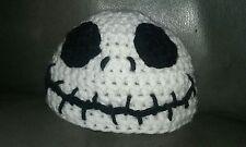 JACK SKELLINGTON Nightmare Before Christmas Baby Halloween Hat Crochet 3-6 month