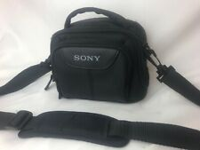 Genuine SONY Camera Camcorder Small Soft Carrying Bag Padded Strap Black Nylon