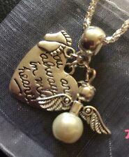 Baby Feet Mémoire Collier, Angel, dans mon cœur un deuil, souvenir, Fausse Couche