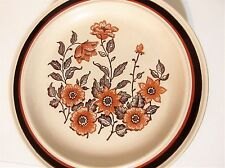 "8 Pc Set Homer Laughlin Country Inn Collection Beige/Brown Floral 10 1/4"" Dinner"