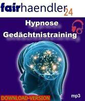 DOWNLOAD Hörbuch PROFI HYPNOSE GEDÄCHTNISTRAINING Audio Entspannung E-Lizenz NEU