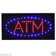 ATM LED Sign Red and Blue Animated