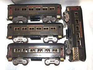 "Dorfan Prewar Standard Gauge ""Black Diamond"" Passenger Cars! 1927! PA"