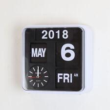 "Fartech Retro Modern 9.5"" Calendar Auto Flip Desk Wall Clock"