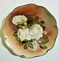 ROSENTHAL MADELEINE PAINTED PLATE PORCELAIN ROSE & GOLD TRIM SIGNED