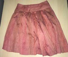 Colorado Size 10 Autumn Burnt Orange A-Line Pleated Creased Effect Skirt # 816