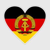 Aufkleber | DDR | Ost-Deutschland | Herz ? Sticker | Autoaufkleber #D044 ?
