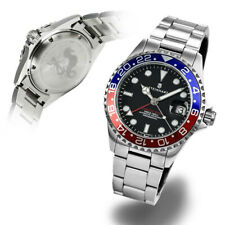 Steinhart Ocean GMT 39mm Blue Red Stainless Automatic Diver's Watch Pepsi Mint