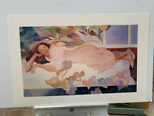 Diana La Com HAND SIGNED NUMBERED S/N KAULUA 38x25 NEVER FRAMED! beach art print