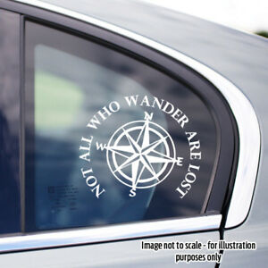 Custom 120mm Not all who wander are lost 4x4 decal sticker
