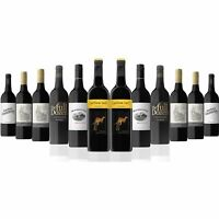 AU Favourite Red Wine Mixed Dozen Featuring Yellow Tail Shiraz (12 Bottles)