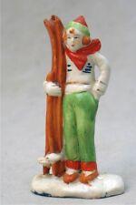Vintage Ceramic Skier Figurine