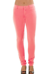 Red Brown Black Blue Hot Skinny Fitted Cotton Wet Leather Pants Jeggings S M L
