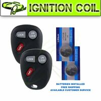 2pcs Remote Control Car Key Keyless Fob Replacement For 2002 GMC Sierra 3500