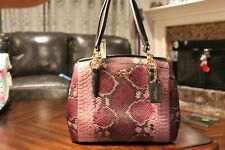 Coach Python Mini Crossbody Satchel F36922