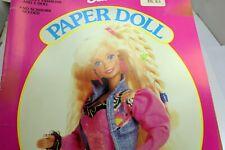 BARBIE PAPER DOLL ~GOLDEN ~ BARBIE Mattel 1992 NEW UNCUT