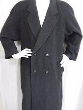 Cashmere Blend Long Coat Italy Black Dk Gray  Mens Sz 54 Creazioni Moda Semerara