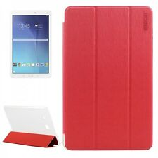 ENKAY Smartcover Rouge pour Samsung Galaxy Tab E 9.6 SM T560 T561 Etui Coque