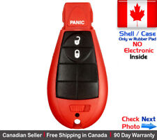 1x RED New Replacement Keyless Key Fob Case For Chrysler Dodge Caravan Shell . .