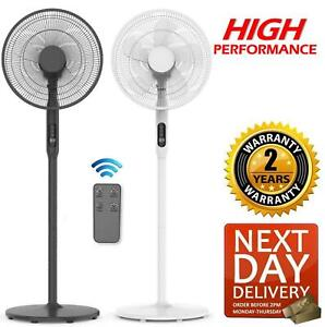 Electric Air Cooling Pedestal Fan Floor Free Standing Stand Tower Remote Control