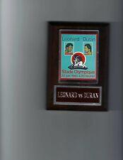 SUGAR RAY LEONARD & ROBERTO DURAN POSTER PLAQUE BOXING CHAMPION PHOTO PLAQUE