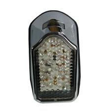 LED Rücklicht Bremslicht Mini Tombstone chrom Kennzeichenbeleuchtung Chopper
