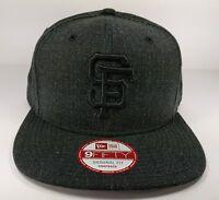 San Francisco Giants New Era 9Fifty Heather Basic Black Field Snapback Hat MLB