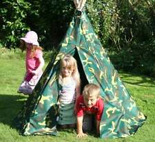 NEW KIDS CAMOUFLAGE TEEPEE, WIGWAM TENT, KIDS PLAY TENT CHILDS GARDEN TOY *SALE*