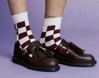 Dr Martens Gracia Oxblood Brando Leather Casual T-Bar Tassel Shoes - BNIB - UK6