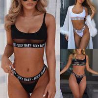 Women Sexy Beach Wear Lingerie Set Push Up Tops Bra+G-string Panties Bikini Set