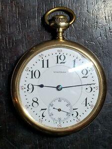 Beautiful 1907 Waltham 16 Size, 21 Jewel Open face Pocket Watch
