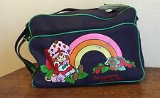 Vintage STRAWBERRY SHORTCAKE Suitcase 1980 Luggage American Greetings Blue