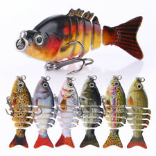 "2.1"" Mini Mulit-Jointed Fishing Lure Swimbait 2.5g Realistic Fish Wobbler Tackle"
