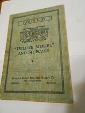 antique Henderson motorcycle parts list catalog Deluxe Model & Sidecars