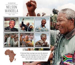 Tanzania- President Nelson Mandela Sheet of 6 stamps