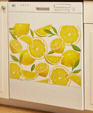 Bright Lemon Bliss Magnetic Dishwasher Cover Yellow Green Lemon Botanical Magnet