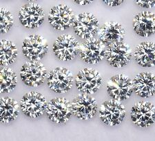 Cubic Zircon 4 MM Round Cut Wholesale Lot 12 Pieces Stunning Loose Gemstones