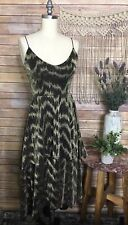 Nasty Gal Collection Glam Hi Low Gold Evening Party Cocktail Halter Dress SZ 4