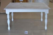 TAVOLO PROVENZALE 60X120 bianco SHABBY CHIC LEGNO MASSELLO  Mobili tavoli