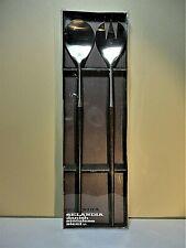 Mid Century Modern Design 2pc SELANDIA DENMARK SALAD SERVERS BOX SET