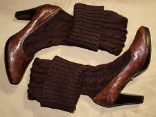 NEW Jessica BENNETT High Heel w/Stockings Pumps Brown Leather Shoes Size 7