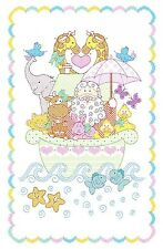 NOAH'S ARK CRIB QUILT TOP HAND EMBROIDERY PATTERN, From Jack Dempsey Inc.