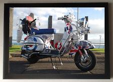 Lambretta Scooter A4 Picture Clock