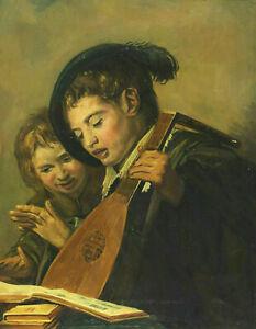 Signed J. V. D. Linde Jr Speech Children IN The Style Rembrandt Or Neck ?